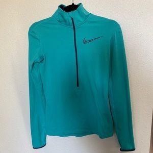 Nike Blue Running 1/4 Zip